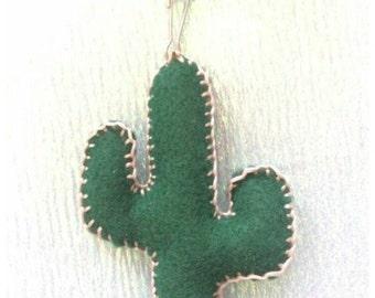 Cactus plush  key  chain