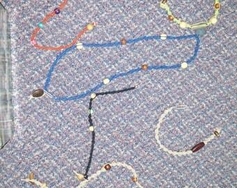 Hemp jewellery homemade: Bracelets
