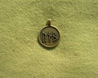 "Runescript ""Piva"". Scandinavian magic Runes amulet."