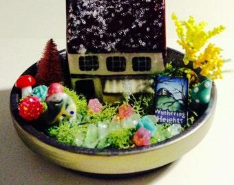 Handmade Miniature Wuthering Heights Fairy Garden