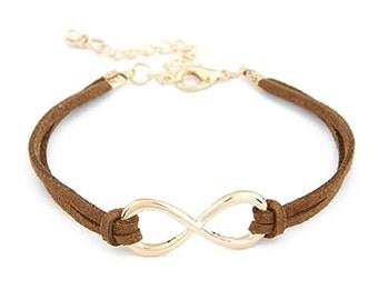 PU Leather Infinity Charm Bracelet