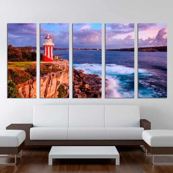 ocean canvas print nature lighthouse ocean extra large wall. Black Bedroom Furniture Sets. Home Design Ideas