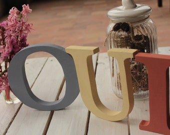 Yes wooden letters