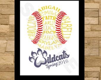 Softball Typography