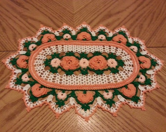 heirloom doily, vintage doily, crochet thread doily