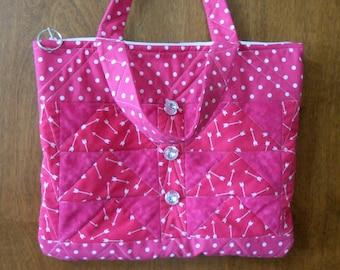Quilted Hot Pink Handbag