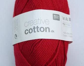 Rico Creative Cotton DK Cherry 009
