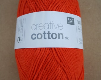 Rico Creative Cotton DK Orange 007
