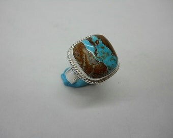 Beautiful Pilot Mountian Ribbon Turquoise set in Sterling Silver
