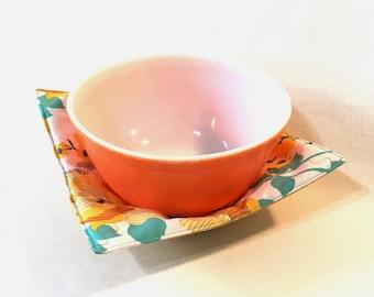 Microwaveable fabric bowl - reversible
