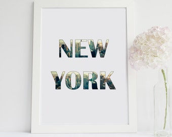 New York Skyline Home Decor Printable Wall Art INSTANT DOWNLOAD DIY Great Gift