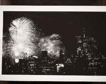 New York Skyline Fireworks