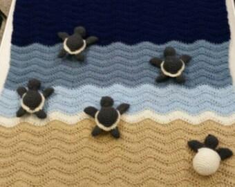 Baby Sea Turtles Blanket or Lovey