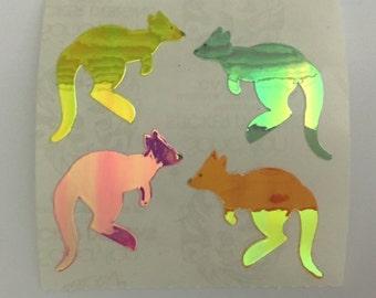 Vintage Sandylion Pearl Kangaroo Stickers