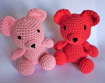 Crochet amigurumi teddy bear 100% cotton