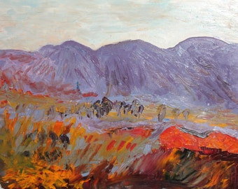 Contemporary European postimpressionist oil painting landscape