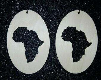 Africa earrings.