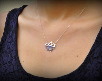 silver necklaces,925k  design jewelry ,silver and gold (vine)