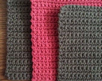 3 Pretty dishcloths