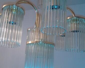 Gaetano Sciolari Glass Rod Chandelier
