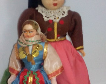 Pair of International Dolls
