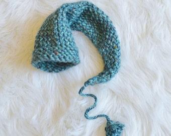 Blue newborn stocking hat