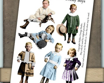 Dressy Boys Digital Collage Sheet