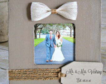 Custom Wedding Picture Frame
