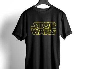 Stop wars unisex T-Shirt star Obama refugees peace peace Putin Merkel Jedi Vader fun