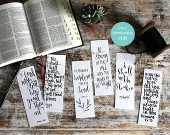 Downloadable Be Strong Christian Bookmarks - Bible Verse Bookmarks (pack of six) - Christian Gifts - Faith Gifts