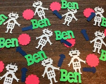 Robot Boy Personalized Confetti-Set of 150