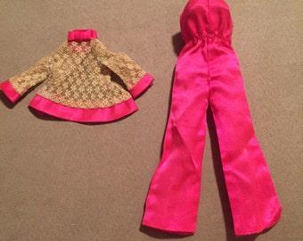 Vintage Francie Satin Happening Outfit