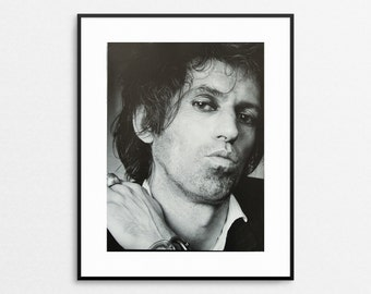 Keith Richards 1980- Annie Leibovitz- Vintage Book Page - The Rolling Stones - Rock n Roll Portraits - Photograph -  Black and White