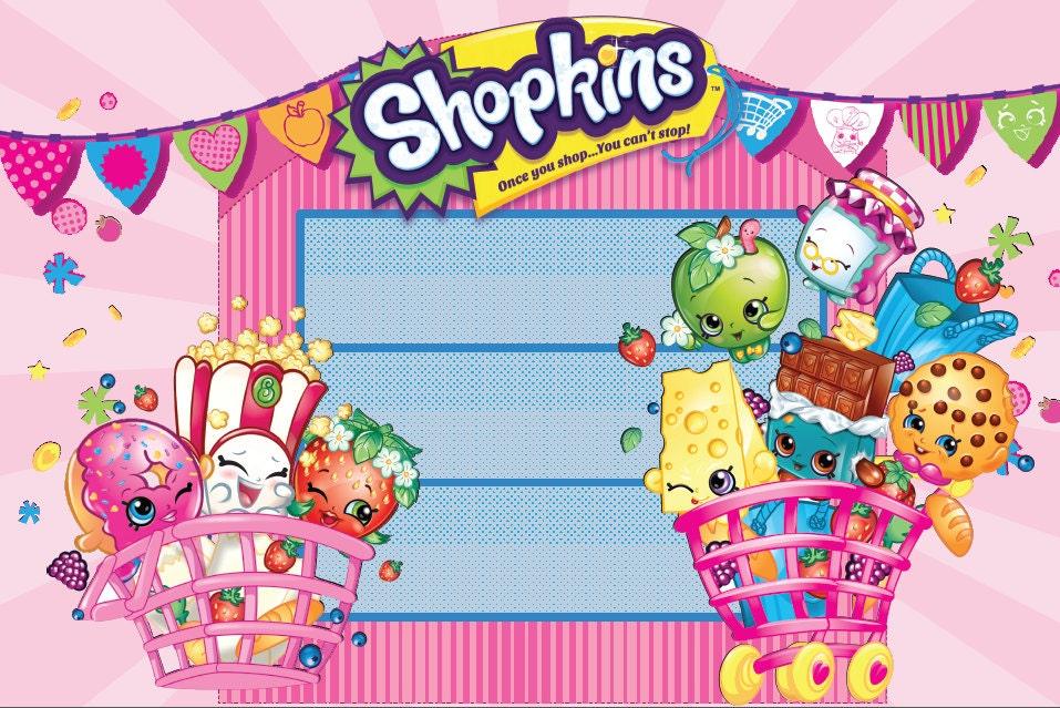 Shopkins backdrop instant download shopkins by paperstudioeu - Shopkins wallpaper ...