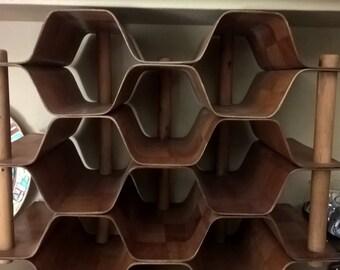Torsten Johansson Honeycomb Wine Rack Mid Century Modern