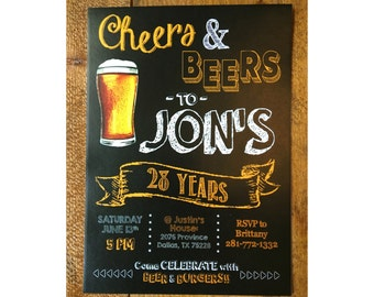 Cheers & Beers Birthday Invitation