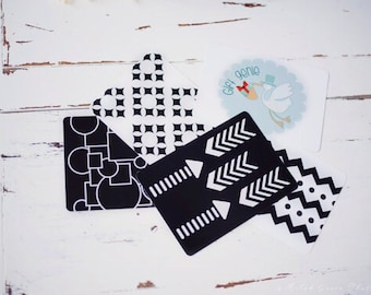 car seat toy, unique gift for babies, Baby Art Cards, Black and white sensory cards, educational christmas toy, infant sensory