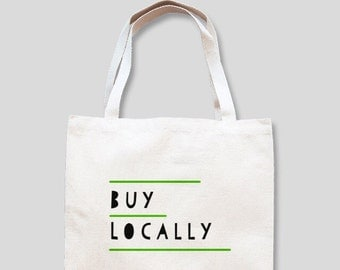 BUY LOCALLY shopping bag