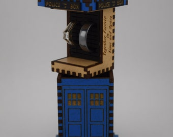Tardis Ceremony Ring Box