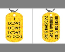 Statement ID Tag, Dog Tag, Id Tag Jewelry, Id Tag Necklace, Jewelry, Pendant, Dogtag, Love Statements, Love Messages, Statement Necklace