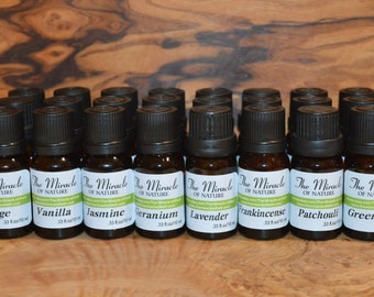 Set of 10 Bottles Essential Oils Pure Natural Aromatherapy Massage 10ml 0.33oz Choose any 10 oils from the list
