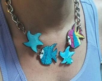 Necklace sea line. MOD. Fish
