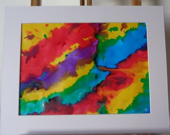 Original abstract ink painting