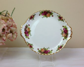 Royal Albert Old Country Roses Handled Cakeplate