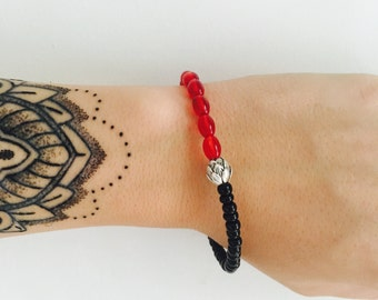 Tiny Red Lotus Wrist-Hugger