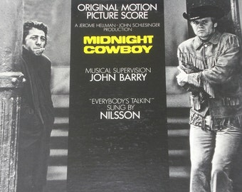 Midnight Cowboy soundtrack, vintage vinyl record album