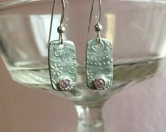 Fine Silver Dangle Earrings