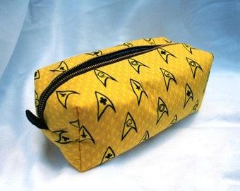Toiletry Bag - Star Trek - Communicator - Trekkie- School Supplies - Pencil and Electronics case- Valentine's Day Gift