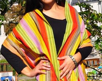 Scarf shawl Rainbow