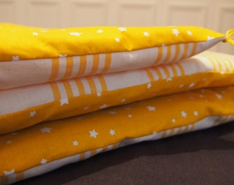 Quilt, bedspread, quilt, bedcover in yellow cotton